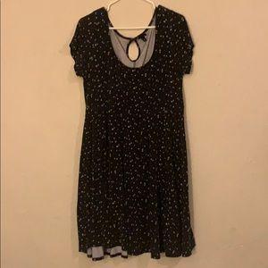 Comfy black star dress